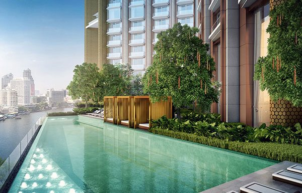 Icon-Siam-Mandarin-Oriental-Bangkok-condo-for-sale-Outdoor-Infinity-Swimming-Pool-&-Jacuzzi