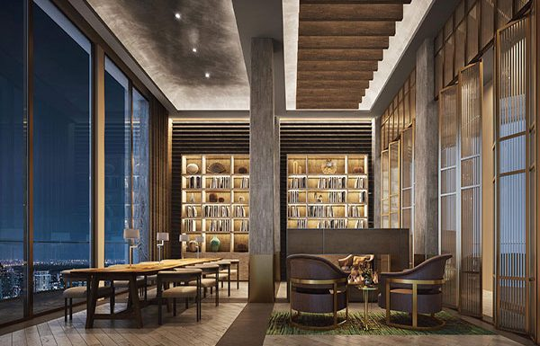 Icon-Siam-Mandarin-Oriental-Bangkok-condo-for-sale-library